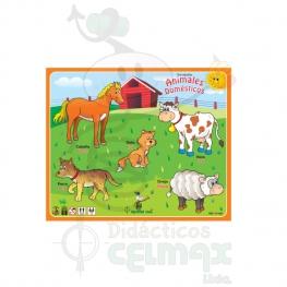 ENCAJABLE DE ANIMALES DOMÉSTICOS X 5 (ESPAÑOL-INGLÉS)