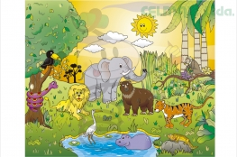 "ROMPECABEZAS ""ANIMALES DE LA SELVA"""